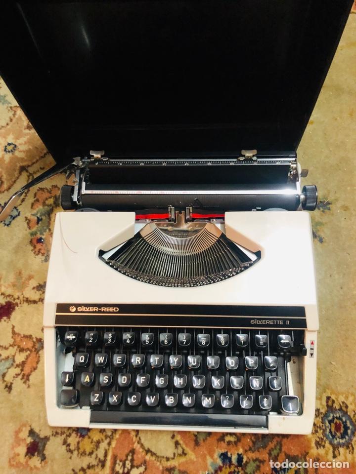 Antigüedades: Máquina de escribir silver-reed - Foto 2 - 148950282