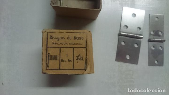 Antigüedades: Antiguo lote de bisagras antiguas. Varios tipos ver fotos. Lote. Muy bien conservadas. Oportunidad - Foto 4 - 148988454