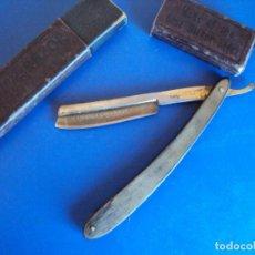 Antigüedades: (NA-190151)NAVAJA DE AFEITAR AMERICAN BARBER -GELLE FRERES - HOJA GRABADA. Lote 149203178