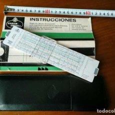 Antigüedades: 62/83N REGLA DE CALCULO FABER CASTELL BIPLEX - DUPLEX CALCULADORA - SLIDE RULE - RECHENSCHIEBER. Lote 149310354
