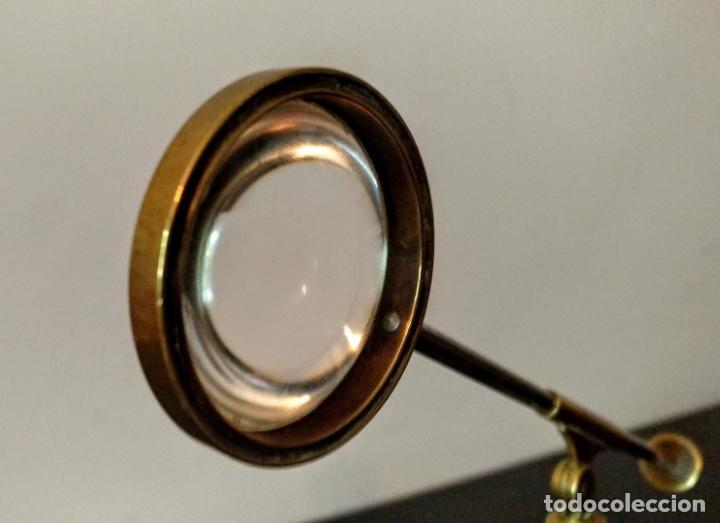 Antigüedades: Condensador de luz Ojo de Toro Bulls eye c.1850. - Foto 10 - 54113450