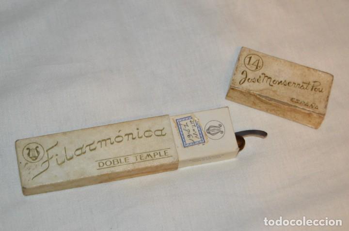 Antigüedades: VINTAGE - ANTIGUA NAVAJA FILARMONICA DOBLE TEMPLE - JOSÉ MONTSERRAT - Nº 14 - NOVODUR - ENVÍO 24H - Foto 10 - 149389294