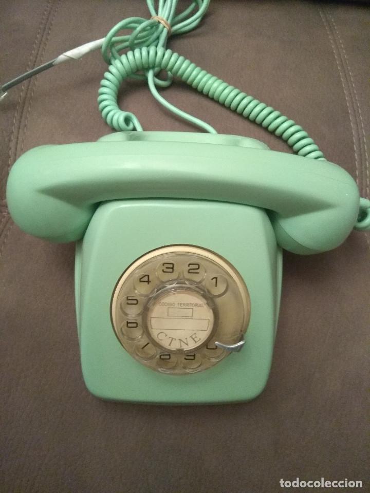 TELÉFONO HERALDO VERDE, ORIGINAL CITESA, ENVÍO GRATIS, ADAPTADO Y FUNCIONANDO (Antiques - Technical - Antique Telephones)