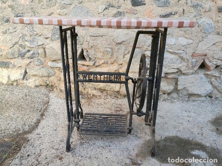 PIE MÁQUINA COSER WERTHEIM, PRECIOSA MESA (VER FOTOS) (Antigüedades - Técnicas - Máquinas de Coser Antiguas - Wertheim )