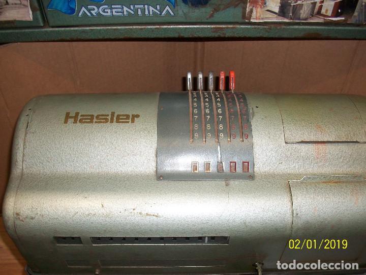 Antigüedades: ANTIGUA FRANQUEADORA SUIZA-HASLER BERN-MODELO F 88 - Foto 2 - 149531594