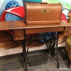 Antigüedades - Maquina de coser singer con mesa - 149533214