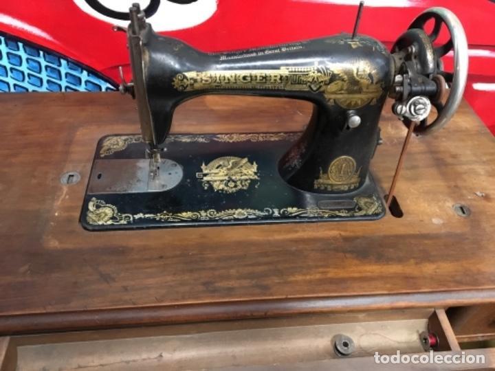 Antigüedades: Maquina de coser singer con mesa - Foto 2 - 149533214