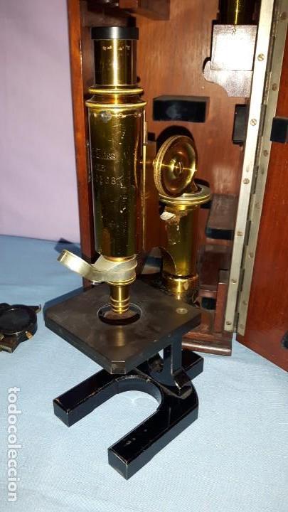 Antigüedades: MICROSCOPIO CON CAJA ORIGINAL CARL ZEISS - Foto 3 - 149566194