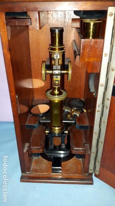 MICROSCOPIO CON CAJA ORIGINAL CARL ZEISS (Antigüedades - Técnicas - Instrumentos Ópticos - Microscopios Antiguos)