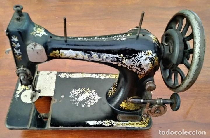 ANTIGUA CABEZA DE MAQUINA DE COSER SINGER PARA DECORACIÓN O PIEZAS (VER FOTOS) (Antigüedades - Técnicas - Máquinas de Coser Antiguas - Singer)