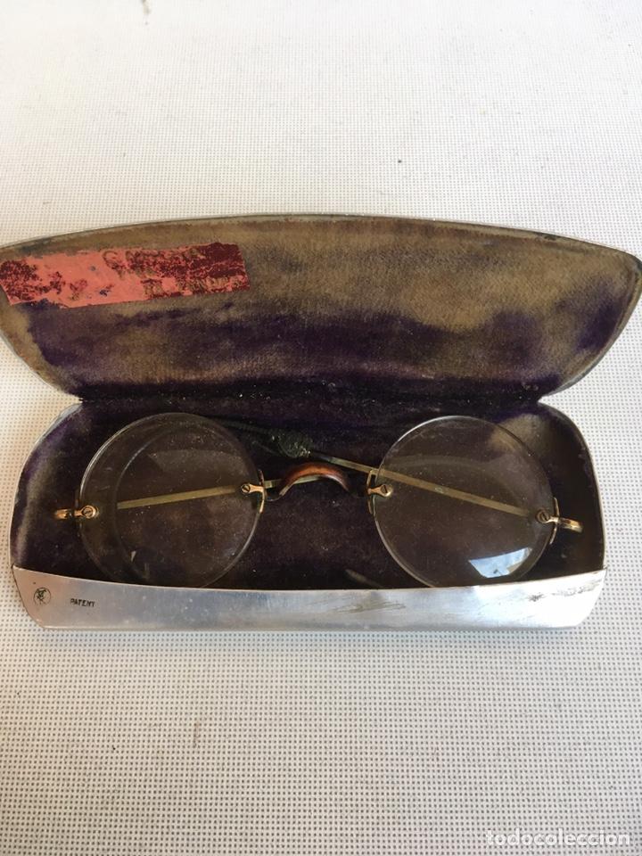 FUNDA CAJA DE ALUMINIO DE LENTES (Antigüedades - Técnicas - Otros Instrumentos Ópticos Antiguos)