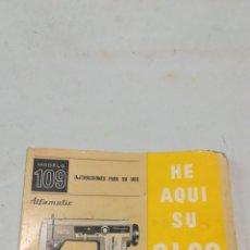Antigüedades: MANUAL MÁQUINA ALFA. Lote 149718672