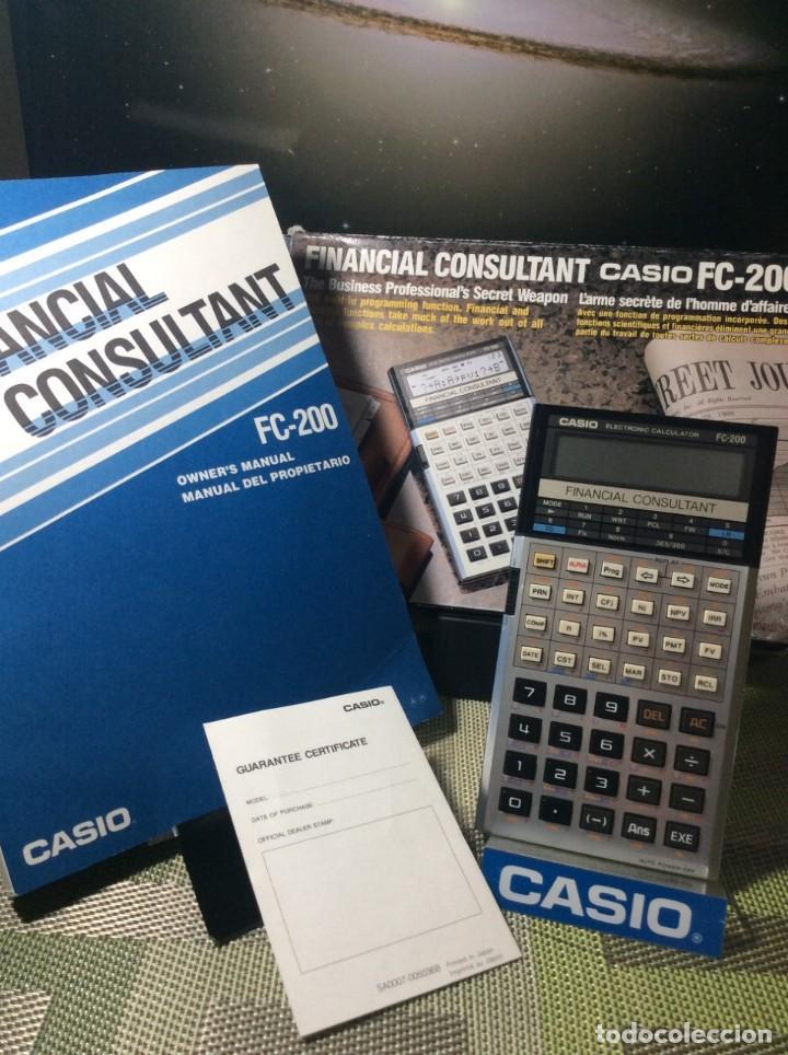 CALCULADORA CASIO FC 200 ¡¡FINANCIERA!! AÑOS 80 ¡NUEVA! (VER FOTOS) (Antigüedades - Técnicas - Aparatos de Cálculo - Calculadoras Antiguas)
