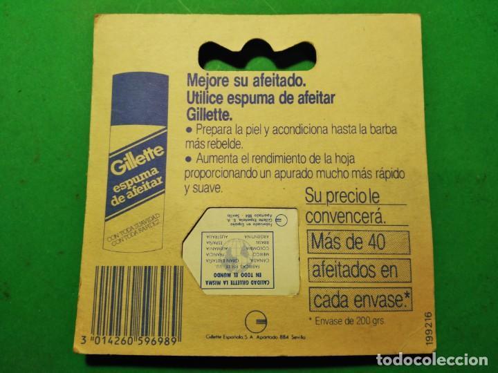 Antigüedades: 5 hojas afeitar en BLISTER nuevo de TRASTIENDA con opcion de compra maquinilla GILLETTE BLACK BEAUTY - Foto 4 - 239942600