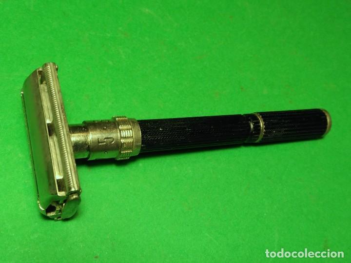 Antigüedades: 5 hojas afeitar en BLISTER nuevo de TRASTIENDA con opcion de compra maquinilla GILLETTE BLACK BEAUTY - Foto 6 - 239942600