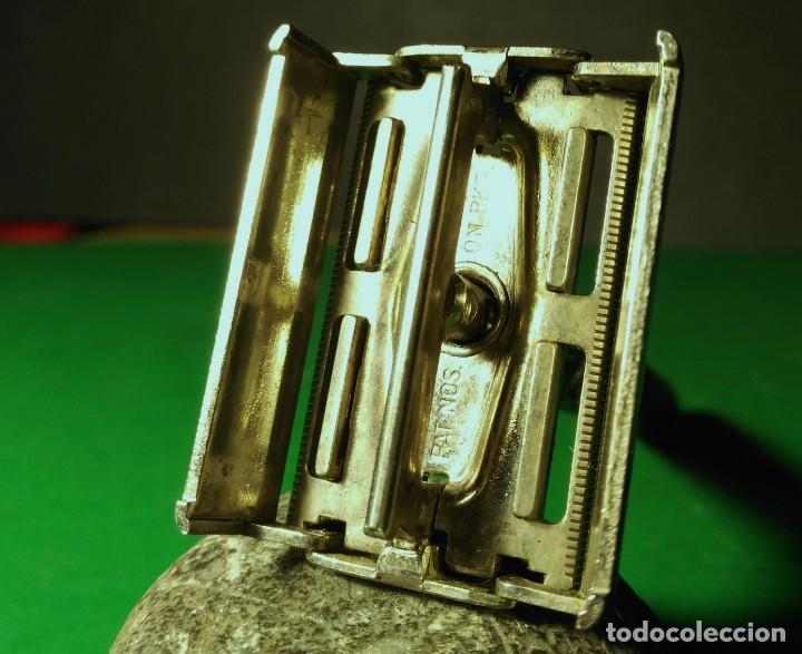 Antigüedades: 5 hojas afeitar en BLISTER nuevo de TRASTIENDA con opcion de compra maquinilla GILLETTE BLACK BEAUTY - Foto 2 - 239942600