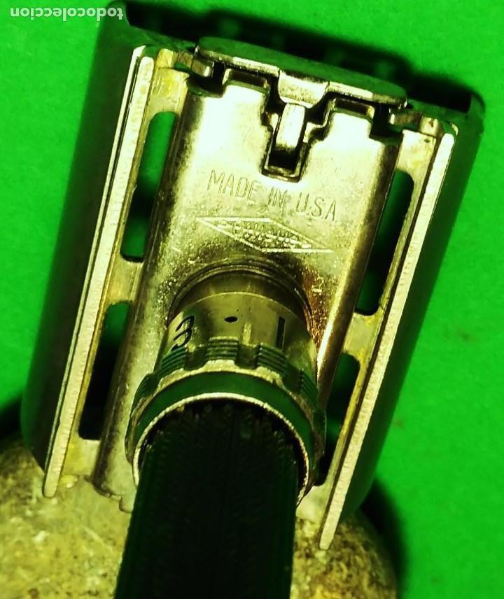 Antigüedades: 5 hojas afeitar en BLISTER nuevo de TRASTIENDA con opcion de compra maquinilla GILLETTE BLACK BEAUTY - Foto 3 - 239942600