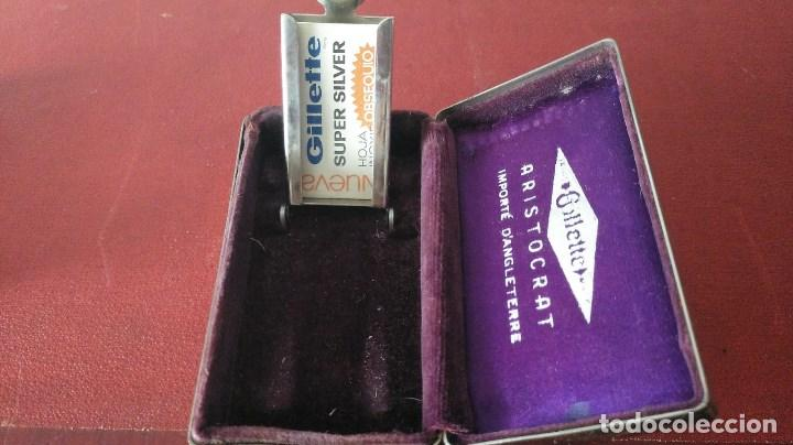 Antigüedades: Maquinilla de afeitar safety razor Gillette Aristocrat French Set 1936 - Foto 4 - 149833034