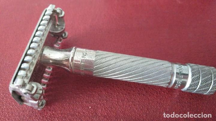 Antigüedades: Maquinilla de afeitar safety razor Gillette Aristocrat French Set 1936 - Foto 6 - 149833034