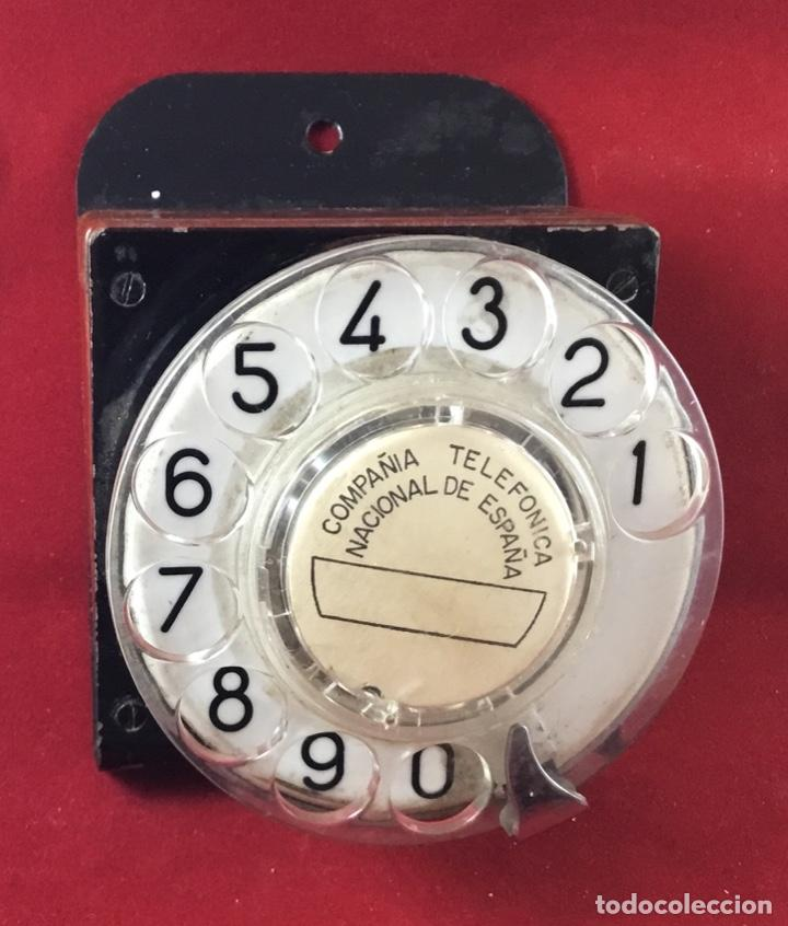 Teléfonos: Antiguo, excelente y completo dial, para mesa o equipo de pruebas de la CTNE, actual Telefónica - Foto 4 - 149871126