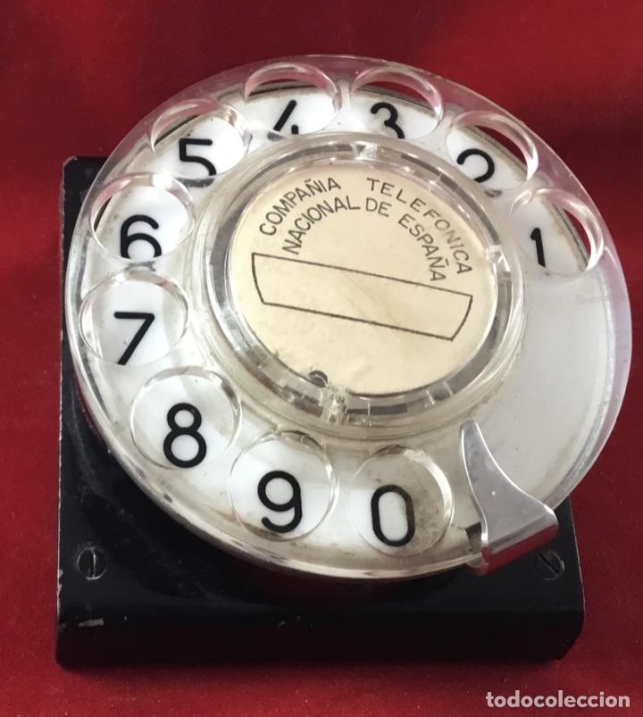 Teléfonos: Antiguo, excelente y completo dial, para mesa o equipo de pruebas de la CTNE, actual Telefónica - Foto 5 - 149871126
