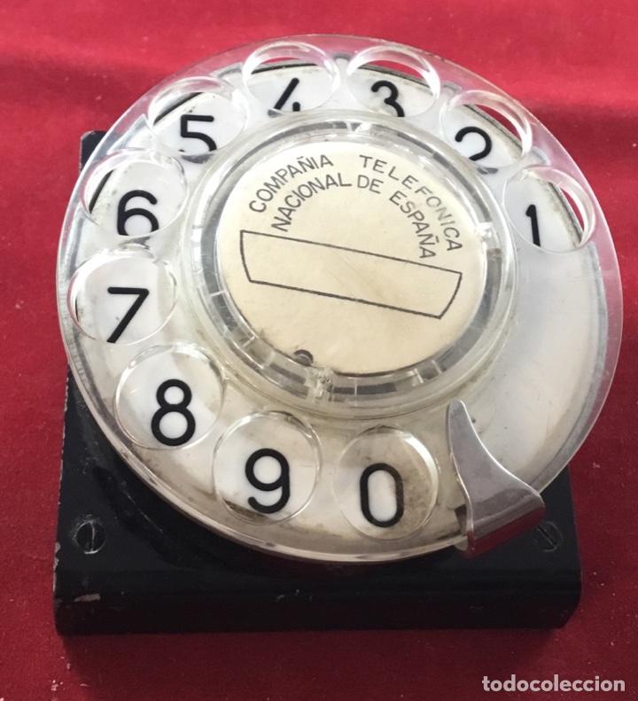 Teléfonos: Antiguo, excelente y completo dial, para mesa o equipo de pruebas de la CTNE, actual Telefónica - Foto 6 - 149871126