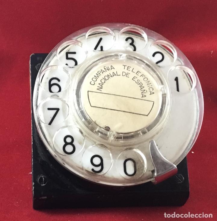 Teléfonos: Antiguo, excelente y completo dial, para mesa o equipo de pruebas de la CTNE, actual Telefónica - Foto 7 - 149871126