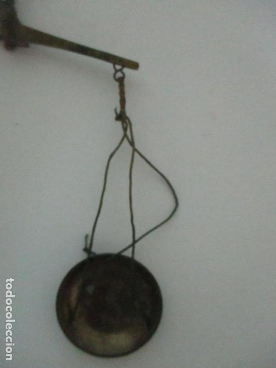 Antigüedades: Balanza - Bascula Pesa Monedas - con Pesas y Ponderales - con Caja de Madera - S. XIX - Foto 6 - 149930174