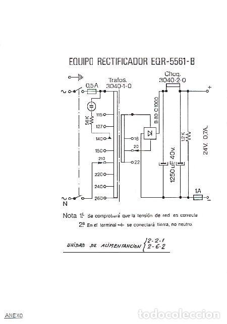 Teléfonos: Antigua fuente de alimentación, para centralitas Satai 2/2/1 y 2/6/2 dela CTNE, actual Telefónica - Foto 8 - 182399725