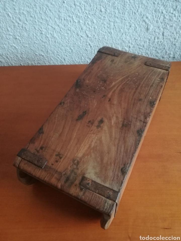 Antigüedades: Antiguo molde para la fabricación de ladrillos HIRA - Decoración rústica vintage - Foto 8 - 150076006