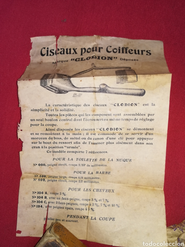 Antigüedades: Antigua cortadora de pelo - Foto 4 - 150077965