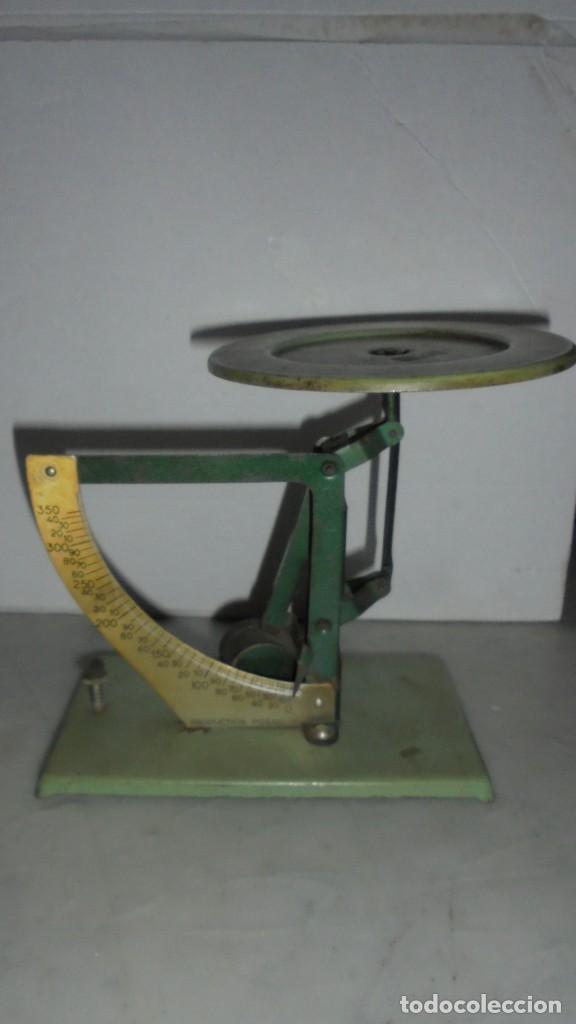 (M) ANTIGUA BALANZA / BASCULA DE METAL,ALUMINIO PRODUCTION POSSO - 16 CM. DE ALTURA (Antigüedades - Técnicas - Medidas de Peso - Básculas Antiguas)
