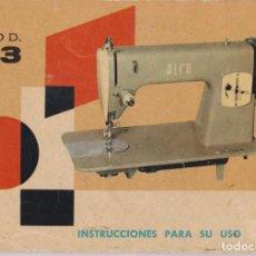 Antigüedades: LIBRITO INSTRUCCIONES PARA USO MAQUINA DE COSER ALFA MODELO 63. Lote 150139906