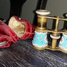 Antigüedades: BINOCULAR DE OPERA ESMALTADO DATA 1875. Lote 150177478