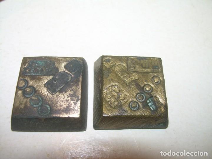 Antigüedades: ANTIGUA BALANZA CON DOS PESAS CUÑOS DE BARCELONA..CON SU CAJA ORIGINAL. - Foto 6 - 150308378