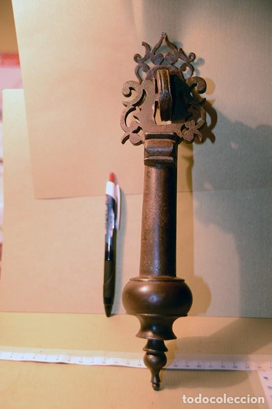 Antigüedades: Gran llamador de forja, Antiguo - Foto 6 - 150312034