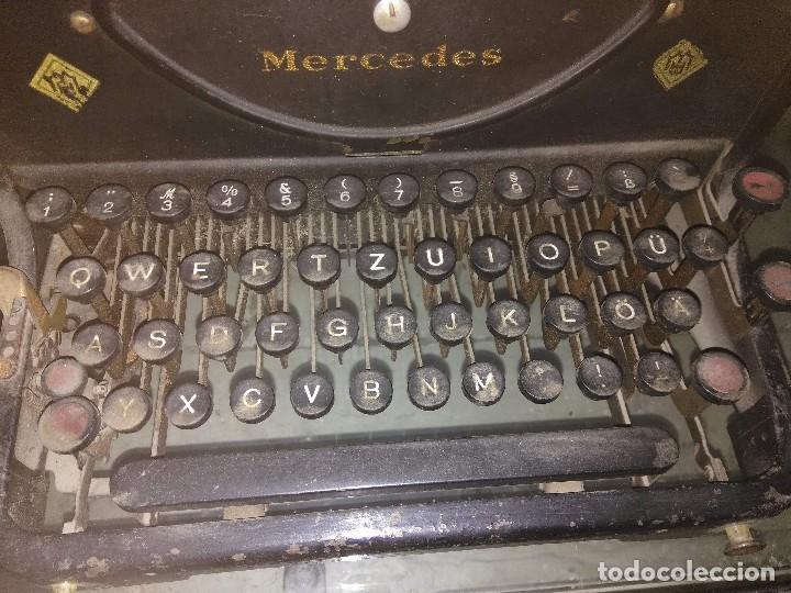 Antigüedades: ANTIGUA MÁQUINA DE ESCRIBIR MERCEDES - Foto 9 - 148301682