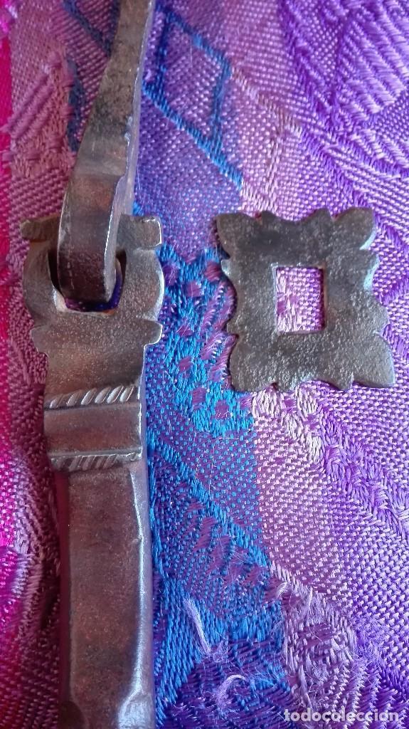 Antigüedades: Llamador siglo 17 de hierro forjado - Foto 6 - 150359178