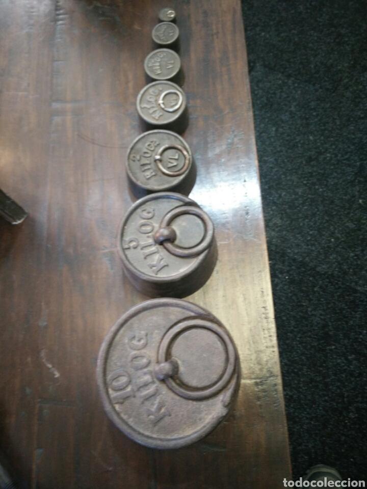 JUEGO DE 7 PESAS (Antigüedades - Técnicas - Medidas de Peso Antiguas - Otras)