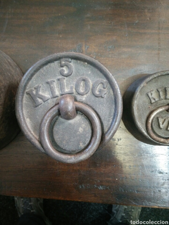 Antigüedades: Juego de 7 pesas - Foto 3 - 150374246