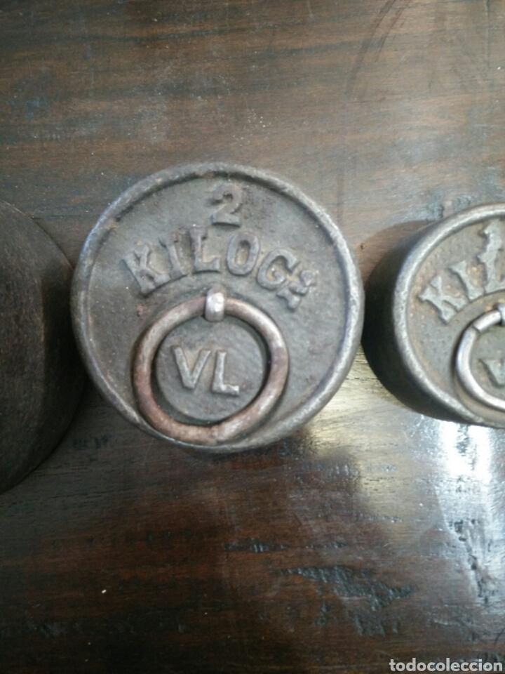 Antigüedades: Juego de 7 pesas - Foto 4 - 150374246