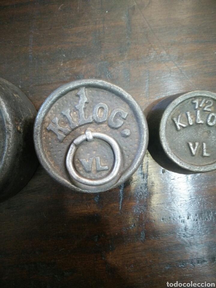 Antigüedades: Juego de 7 pesas - Foto 5 - 150374246