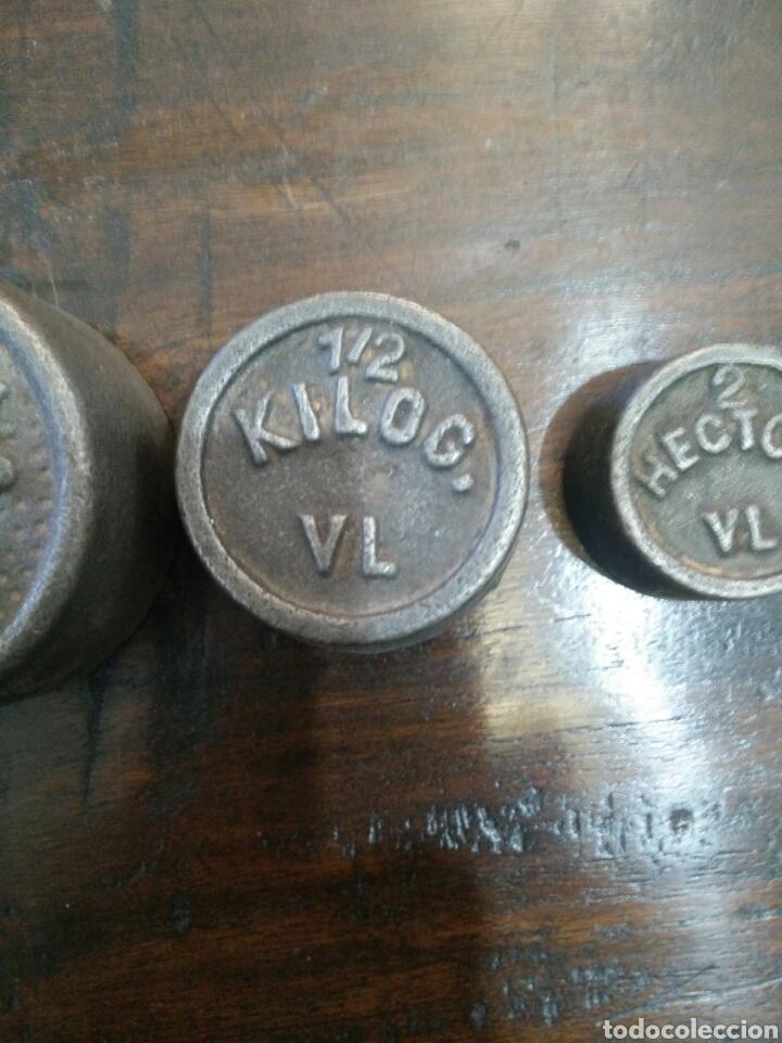 Antigüedades: Juego de 7 pesas - Foto 6 - 150374246