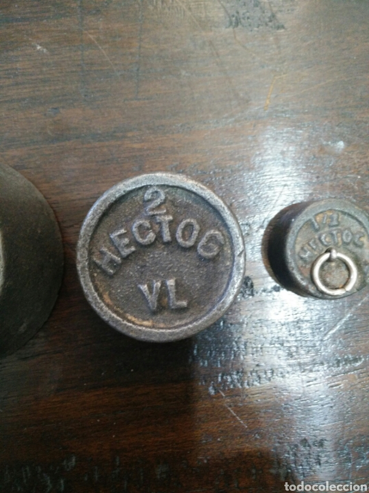 Antigüedades: Juego de 7 pesas - Foto 7 - 150374246