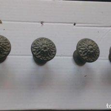 Antigüedades: 4 TIRADORES ANTIGUOS DE METAL. Lote 150511114