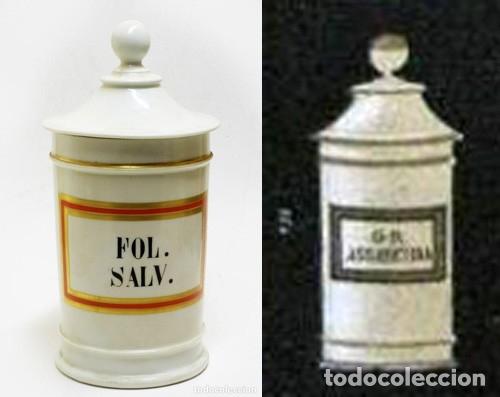 Antigüedades: 1877 BOTÁMEN ALBARELO MODESTO CASADEMUNT - IMPRESIONANTE TARRO DE FARMACIA - Foto 3 - 140464782