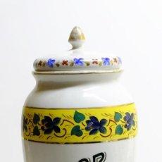 Antigüedades: 1897 - ANTIGUO ALBARELO - RUBERT HERMANOS - CATALOGADO - GRAN TAMAÑO 29CM. ROTULOS PINTADOS A MANO. Lote 150521742