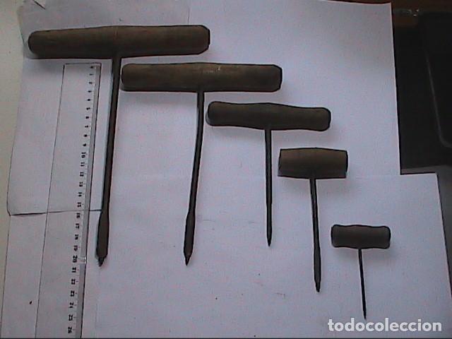 LOTE DE 5 BERBIQUIS ANTIGUOS. MEDIADOS S.XX. (Antigüedades - Técnicas - Herramientas Profesionales - Carpintería )