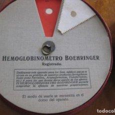 Antigüedades: ANTIGUO HEMOGLOBINOMETRO BOEHRINGER , ANALISIS DE SANGRE CAJA EN CARTON MEDICINA INSTRUMENTAL MEDICO. Lote 150616410