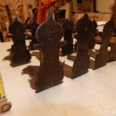Antigüedades: 14 CANTONERAS DE ARCA MARAGATA DEL XVI CON INFLUENCIA DEL ARTE MOZARABE. Lote 150618710